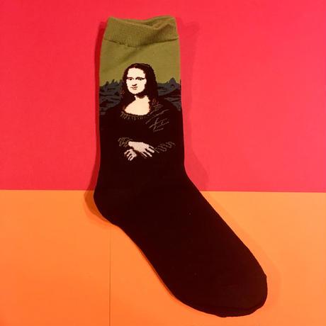 モナリザ 靴下 名画 アート MONA LISA ART SOCKS