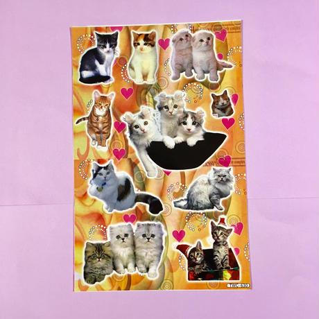 猫 ネコ シール 大 CAT STICKER