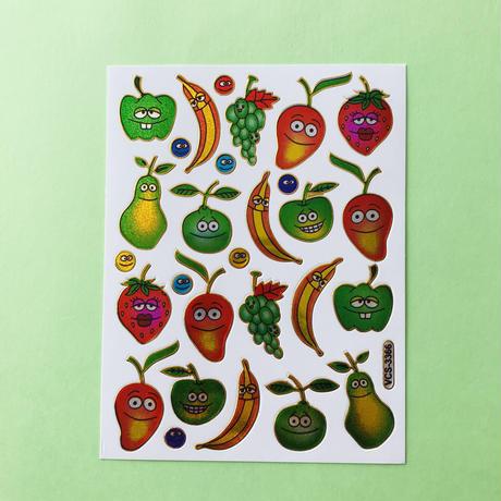 フルーツ ⑦ キラキラ シール   FRUIT STICKER