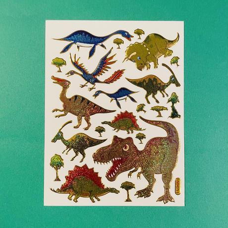 恐竜 ⑨ キラキラ シール  DINOSAUR STICKER