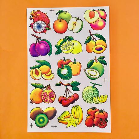 フルーツ 果物 シール ③ ネオンカラー