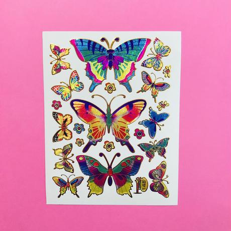 蝶々 ③ キラキラ シール BUTTERFLY STICKER