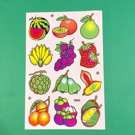 フルーツ 果物 シール ② ネオンカラー