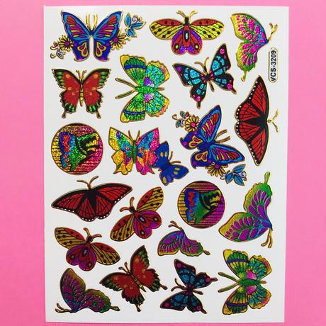 蝶々 ② キラキラ シール BUTTERFLY STICKER