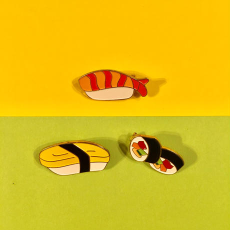 お寿司 ブローチ 3個セット  SUSH BROOCH