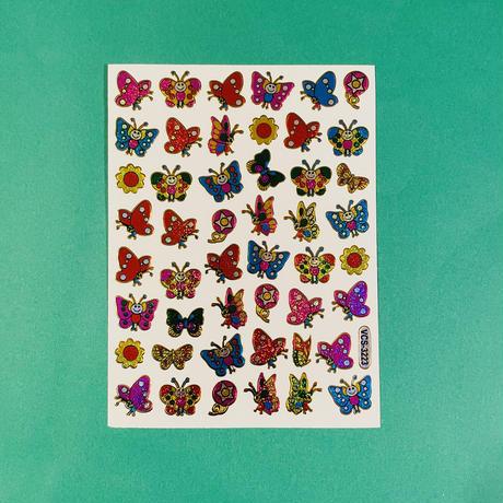 蝶々 キラキラ シール (13)  BUTTERFLY STICKER
