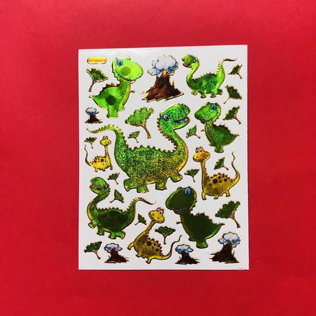 恐竜 ⑧ キラキラ シール  DINOSAUR STICKER