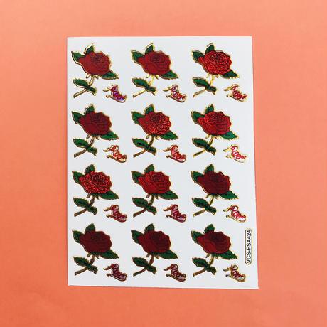 薔薇 ローズ ③ キラキラ シール  ROSE STICKER