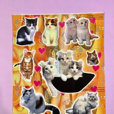 猫 ネコ シール 大 CAT STICKER ①