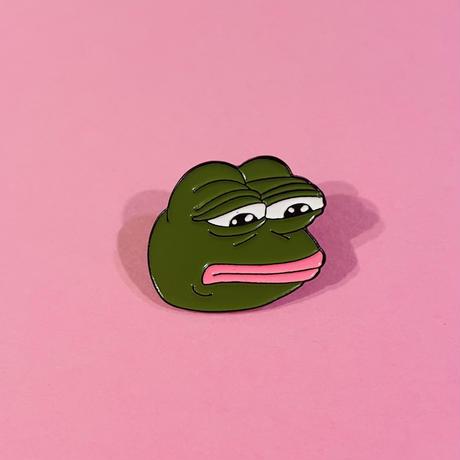 悲しいカエル ピンバッジ SAD FROG PIN BADGE