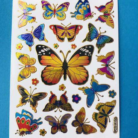蝶々 キラキラ シール  ⑤  BUTTERFLY STICKER