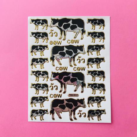 牛 キラキラ シール ② COW STICKER