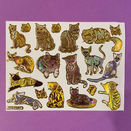 ねこ 猫 ③ キラキラ シール CAT  STICKER