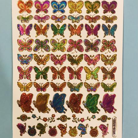蝶々 キラキラ シール (12)  BUTTERFLY STICKER