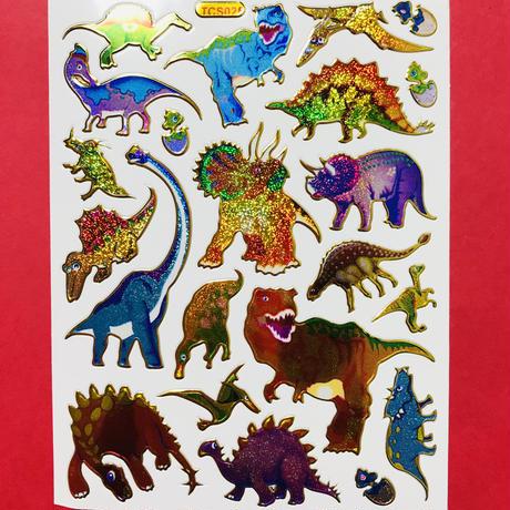 恐竜 ⑤ キラキラ シール  DINOSAUR STICKER