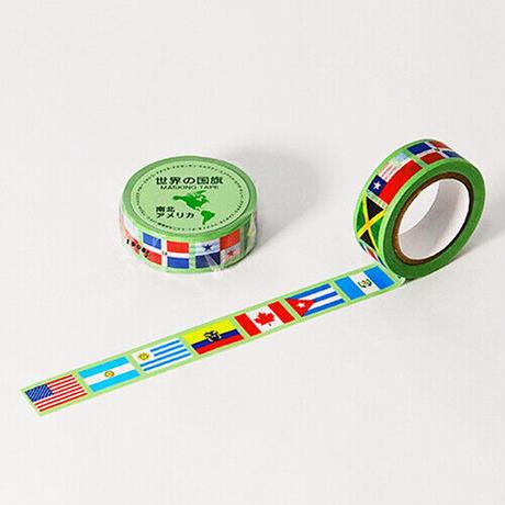 世界の国旗 南北アメリカ編 マスキングテープ MASKING TAPE