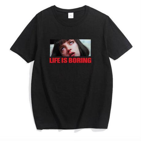 LIFE IS BORING Tシャツ 黒