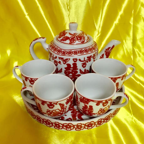 ダブルハピネス ティーセット6点セット  DOUBLE HAPPINESS TEA SET