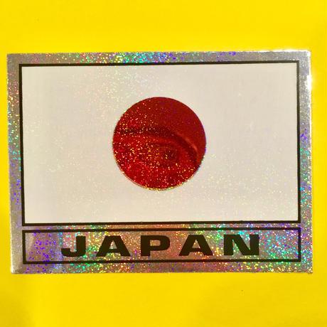 日本国旗 キラキラ シール JAPAN FLAG STICKER