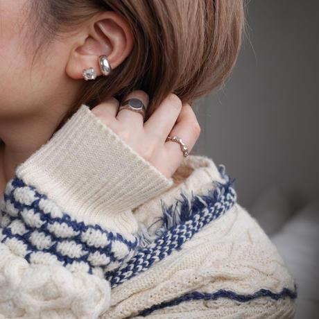 Harkimer diamond drop ear cuff 925