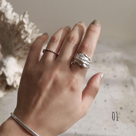 925 rough ring