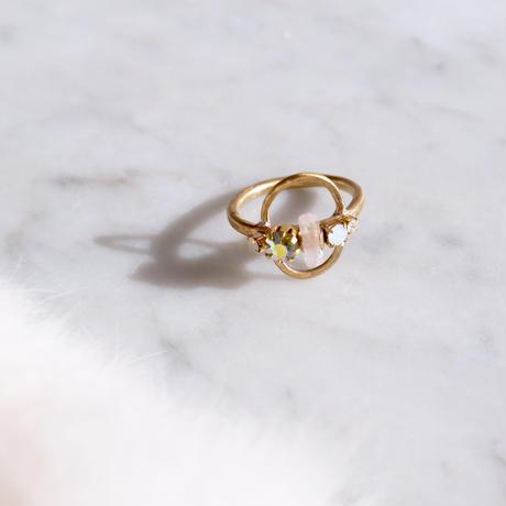 Tourmaline×Vintage Swarovski ring