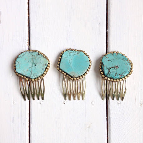 Turquoise hair jewelry
