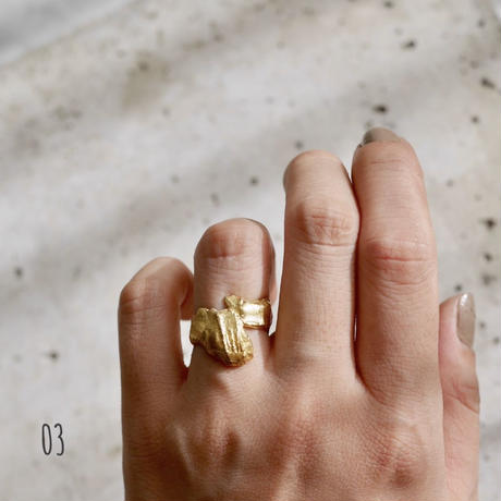Gold(925) rough ring