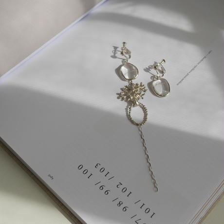 Crystal quartz earrings 925