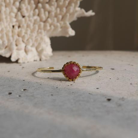 Raw sapphire bangle