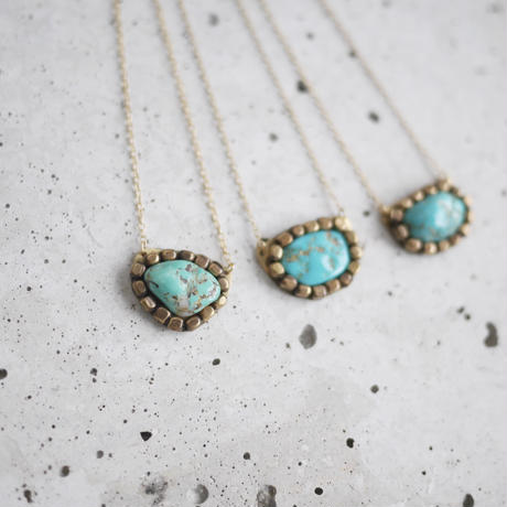 Gemstone necklace「Turquoise」