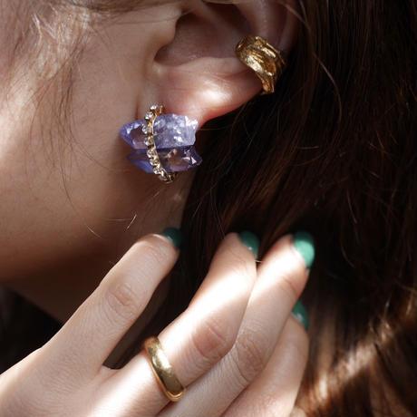 Tanzanite aura × Vintage Swarovski earrings
