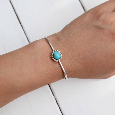 Silver950 × Turquoise bangle