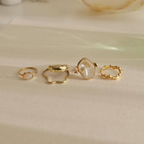 Crystal quartz revolving ring 925