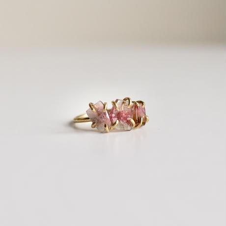 Pink tourmaline ring 14Kgf