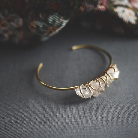 5 Harkimer diamond bangle
