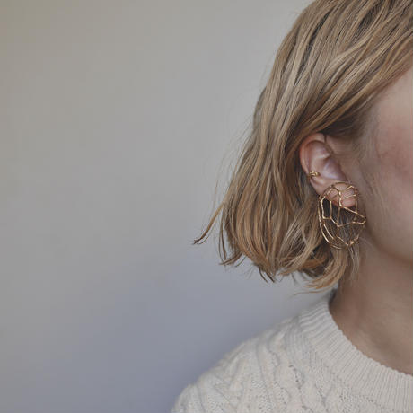 Brass mineral earrings