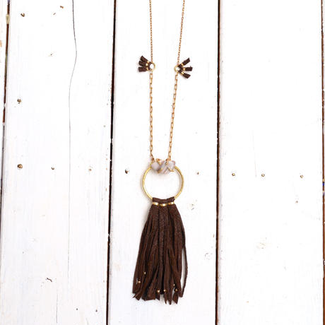 Agate×Ostrich necklace