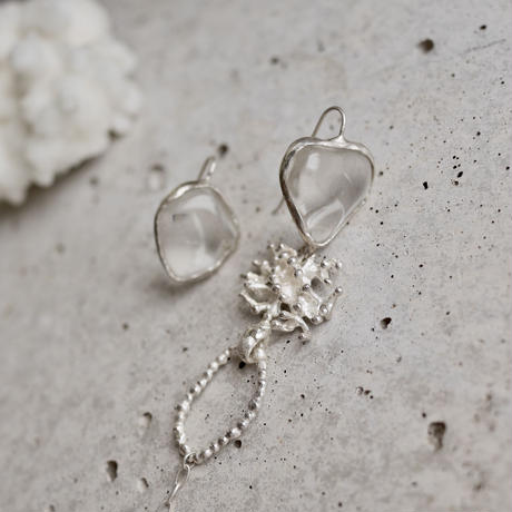 Crystal quartz earrings 925