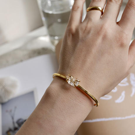 Harkimar diamond brass bangle