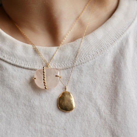 Flow necklace 02 -gold-