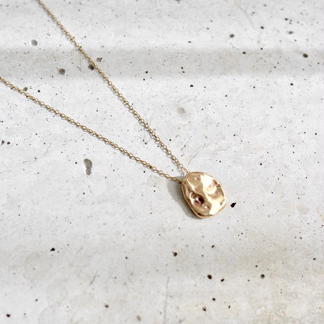 Flow necklace-gold-