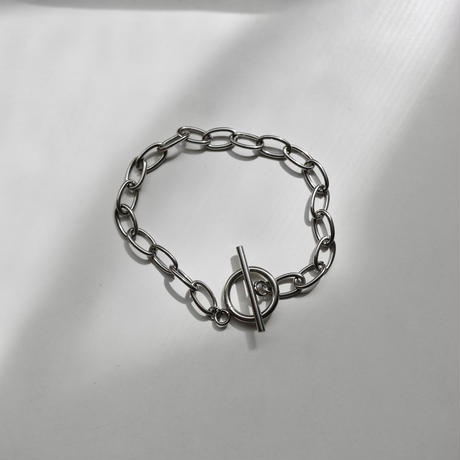 Found- Stainless chain bracelet  silver