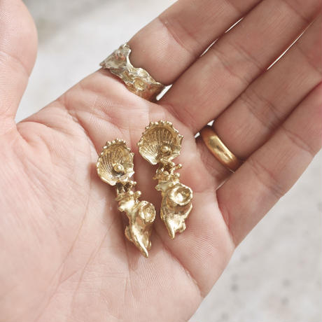Shells earrings -Gold