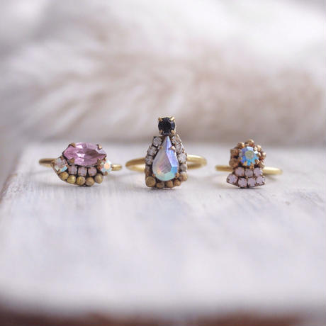 Vintage glass ring