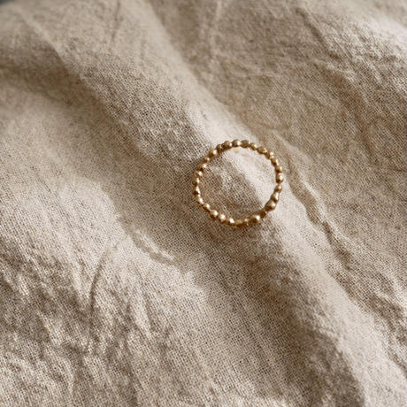 Grain dot ring-gold