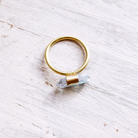 Gemstone ring「Aqua aura」