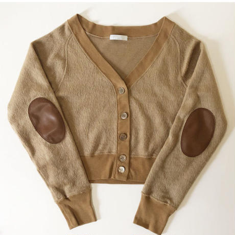 shaggy touch short cardigan (camel)