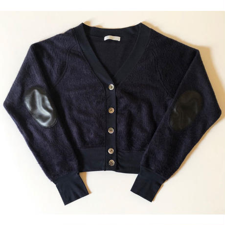 shaggy touch short cardigan(navy)