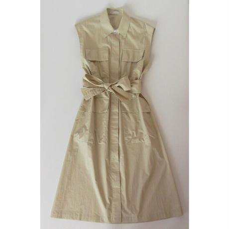 bal collar coat sleeveless